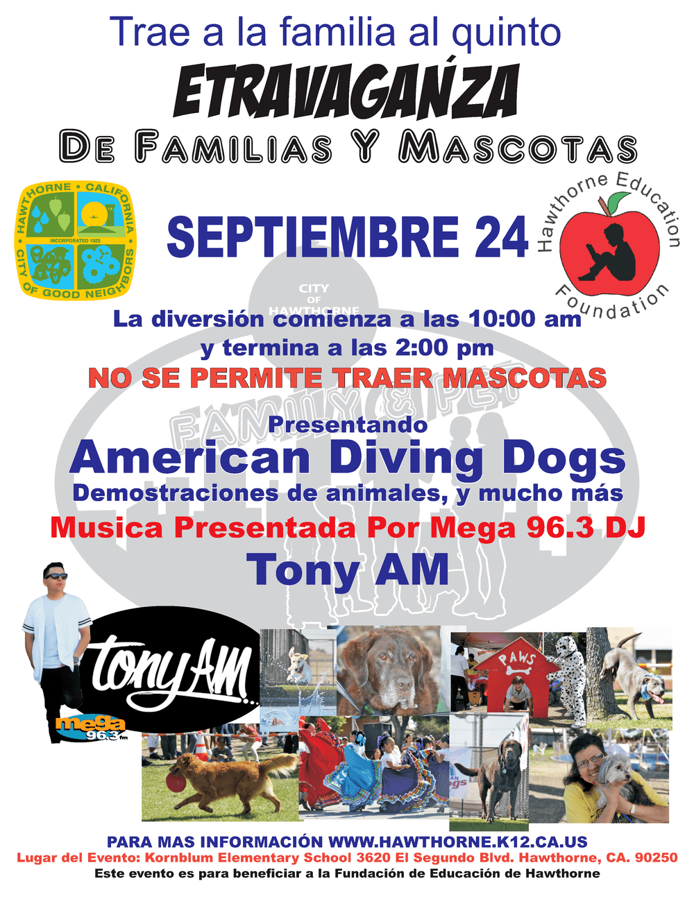 Fifith Annual Pet Extravaganza Flyer Spanish.png