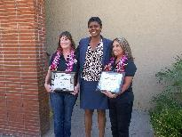 Kornblum's Employees of the Year Mrs. Salas and Mrs. Gleason